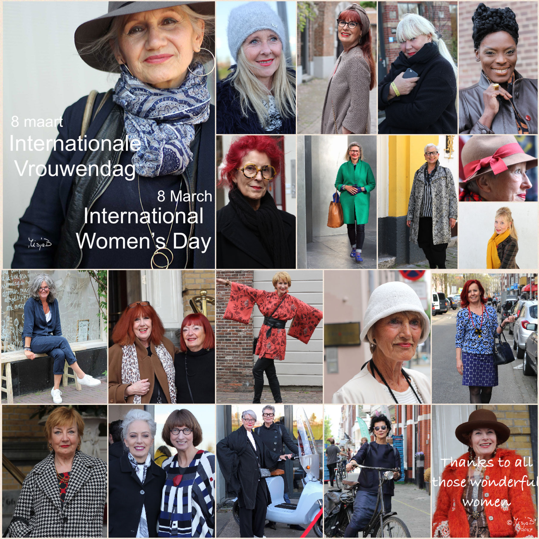 Wednesday, 8 March International Women's Day 2017