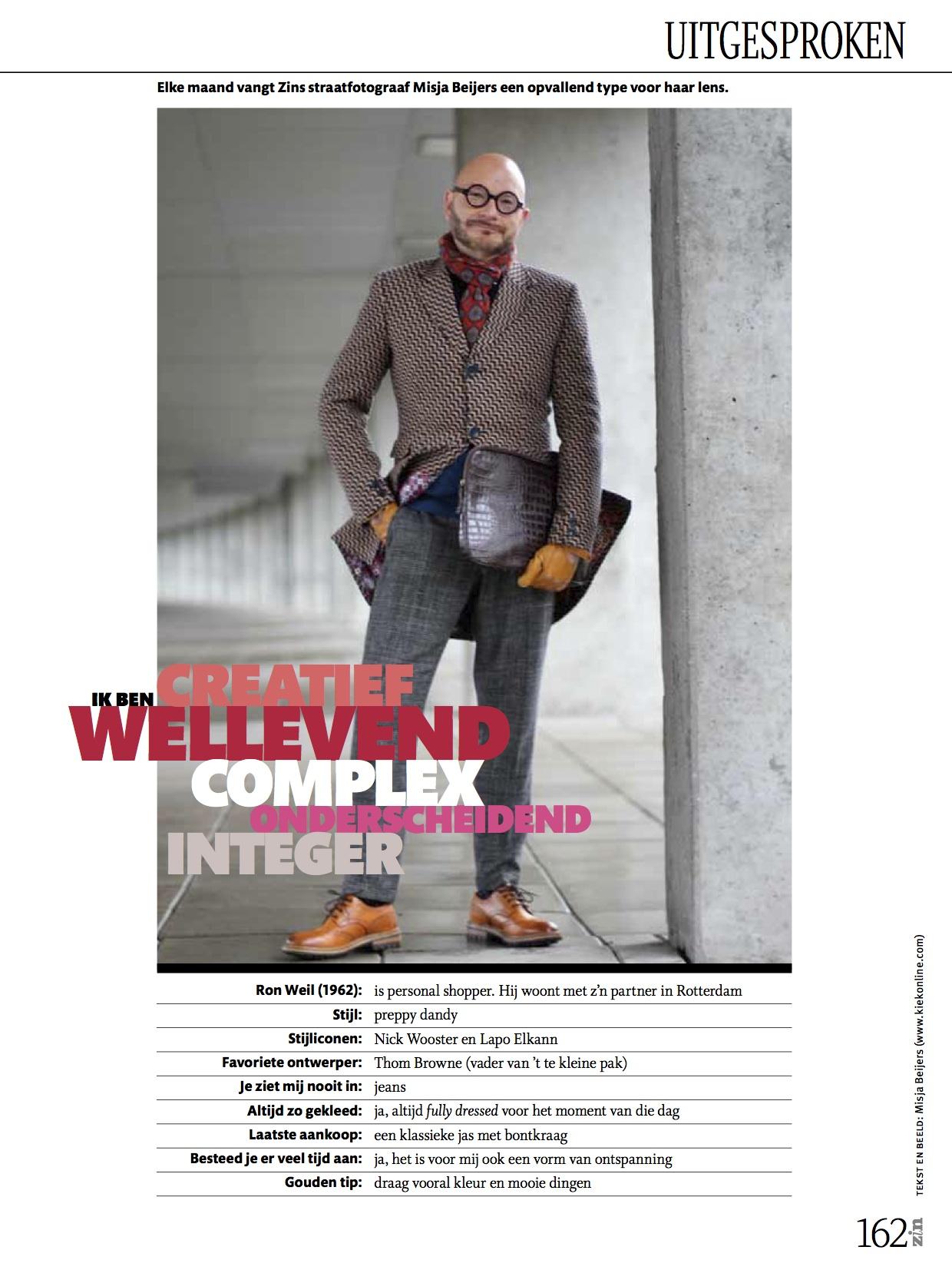 In Zin magazine: elke maand een uitgesproken type