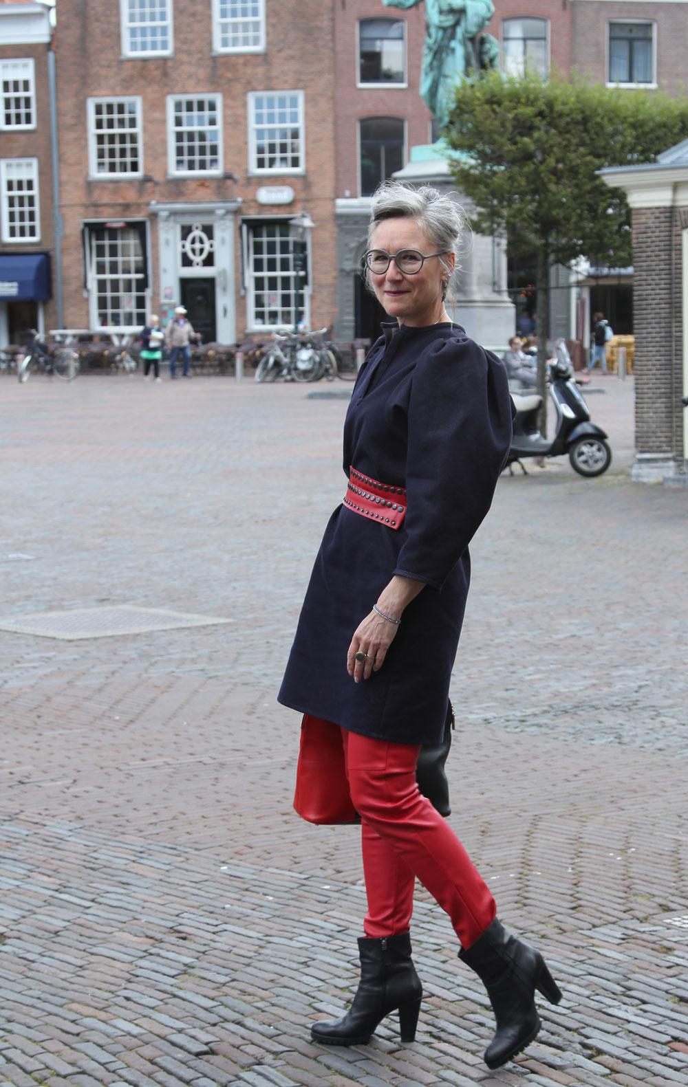 Christine op de Grote Markt in Haarlem