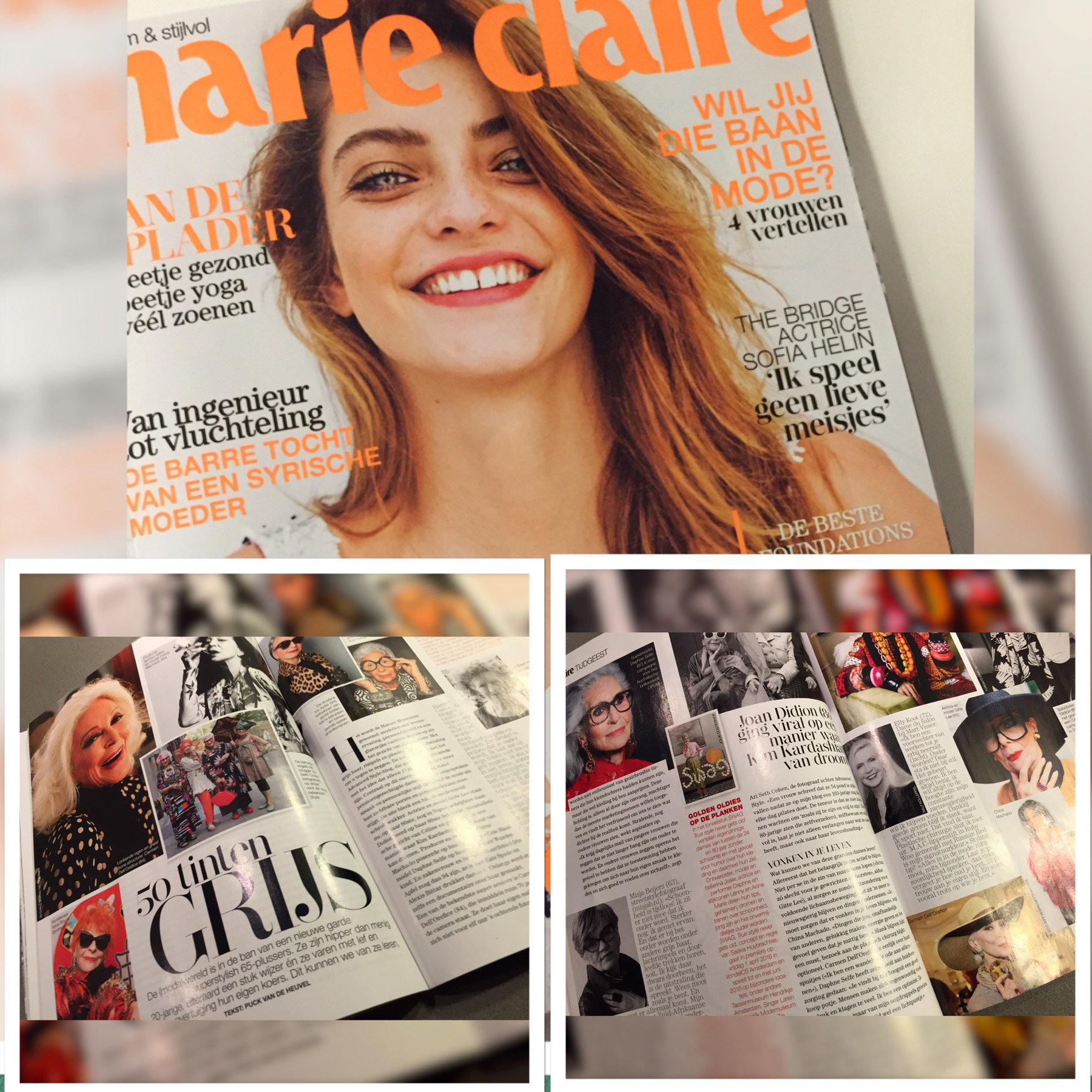 in Marie Claire: 50 shades of grey