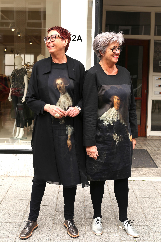 Friends Els & Trudy wearing Rembrandt