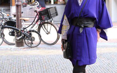 Kimono's zijn opvallend aanwezig in het straatbeeld