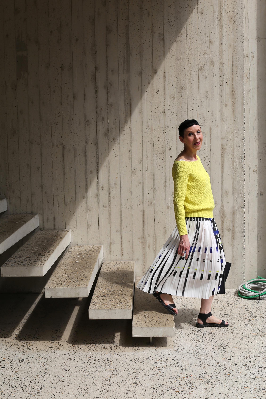 Een fashionista in de straten van Antwerpen: Hilde Baeten