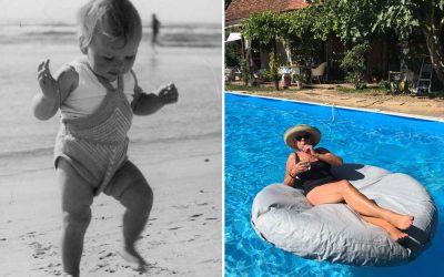 Genieten van de zon, toen en nu