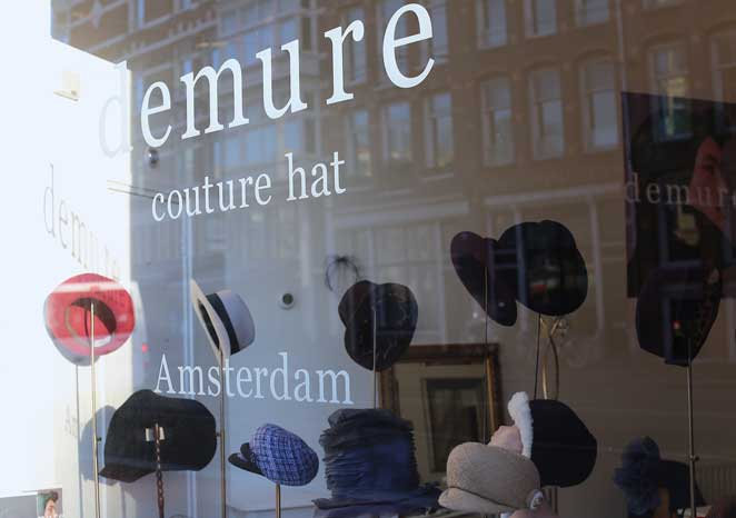 Demure Couture Hat in Amsterdam